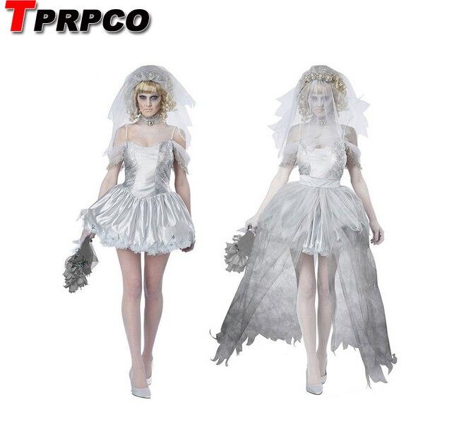TPRPCO Women Vampire Zombie Dress Decadent Dark Ghost Bride Styling sexy Costumes Halloween costumes Cosplay for women NL147