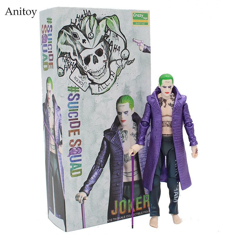 Crazy Toys Suicide Squad The Joker 1/12 th Scale PVC Figure Collectible Toy 17cm KT4041 movie crazy toys suicide squad joker 12 1 6 scale doll movie pvc action figure resin collection model toy gifts cosplay