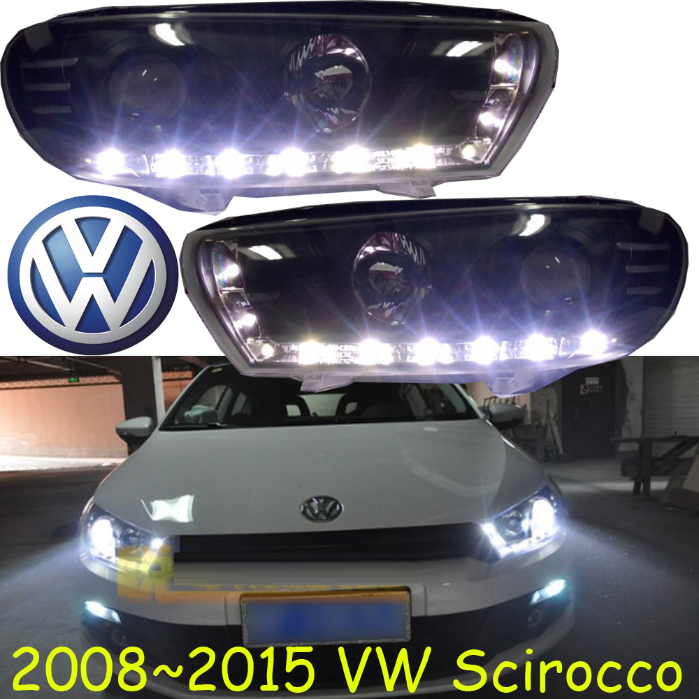 Scirocco headlight,2008~2015(Fit for LHD,RHD need add 200USD),Free ship!Scirocco fog light,2ps/se+2pcs Aozoom Ballast, Scirocco cadilla srx headlight 2011 2015 fit for lhd if rhd need add 300usd free ship srx fog light 2ps set 2pcs ballast srx