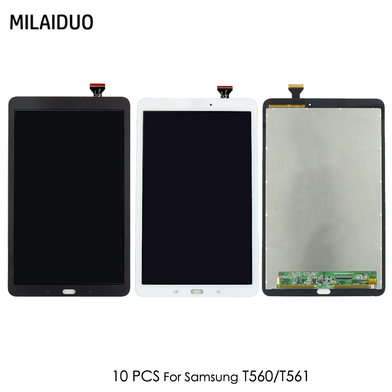 10 PCS Original LCD Display For Samsung Galaxy Tab E T560 T561 SM T560 SM T561 9.6 Tablet Panel Touch Screen Digitizer Assembly