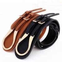 Belt Leather Black Cowskin Genuine Leather Thin Tie Designer Belts Women New Fashion
