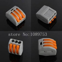 50 PCS 32A Spring Lever Push Cable Connector Terminal Block From 3 Way