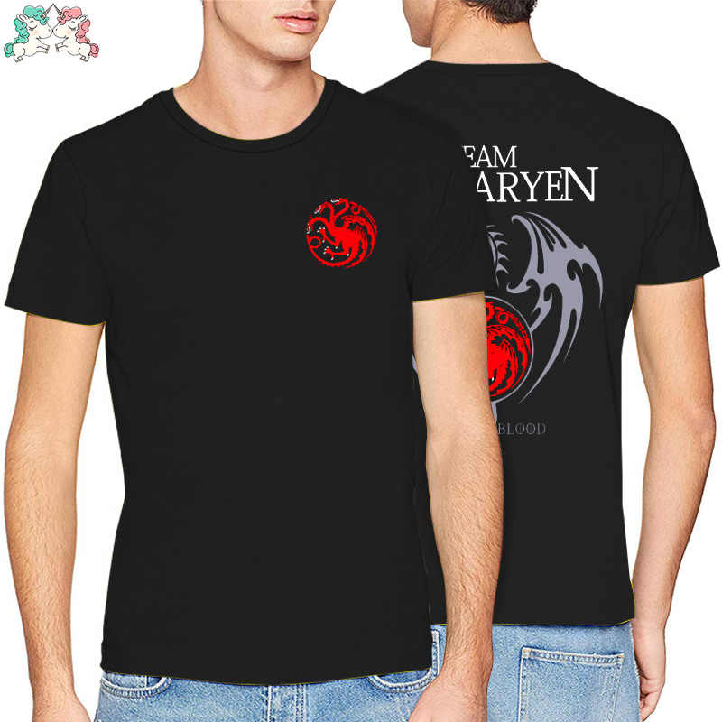Game Of Thrones Targaryen Fire & Bloed T-shirt Mannen 2019 Zomer Fit Slim Mannen T-Shirts mannen Sportkleding T-shirts kpop
