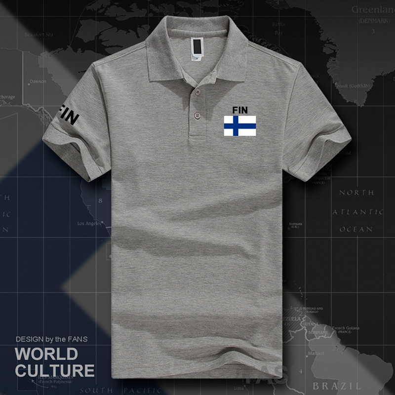 Finland   polo   shirts men short sleeve white brands printed for country 2017 cotton nation team flag new Finnish Finn FIN FI Suomi