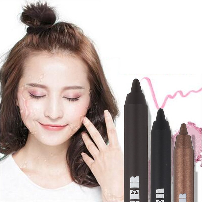 Black eyeliner eyeshadow chocolate New Eye Liner Pencil Makeup Long Lasting Waterproof Black Brown Color Pencil Eyeliner Gel