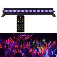 Voice Activated Purple Stage Lighting Effect Decor For DJ Disco Lamp Home Laser Projectors UV Led Bar With Remote controller