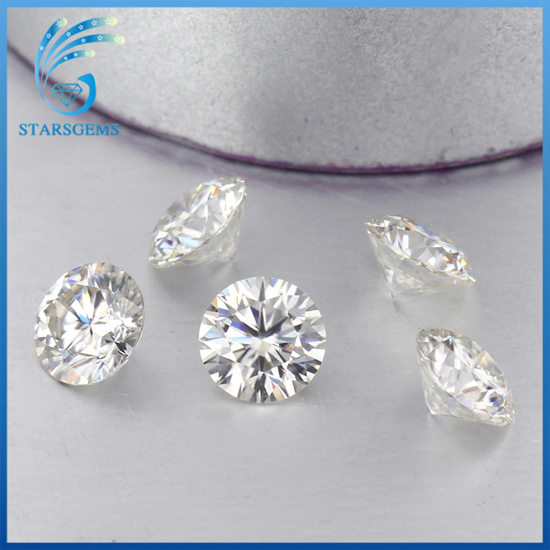5pcs pack CHEESTAR GEMS Round Brilliant Cut 0 2ct 3 5mm IJ Color Lab Created Moissanites
