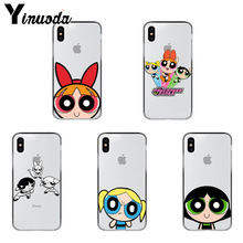 Yinuoda The Powerpuff Girls  TPU Soft Rubber Phone Case Cover for iPhone X Xs Xr XsMax 10 7 7plus 8 8plus 6 6s 5 5S SE 5C