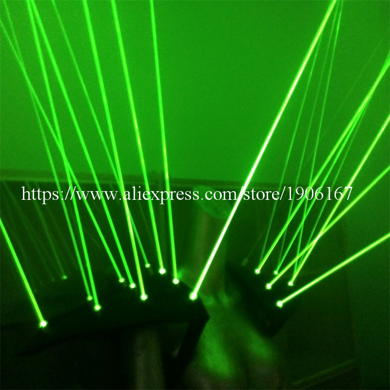 녹색 레이저 남자 조끼 옷 20pcs 레이저 Laserman 양복 조끼 제복 스테이지 나이트 클럽 KTV 쇼 파티 바 용품 레이저