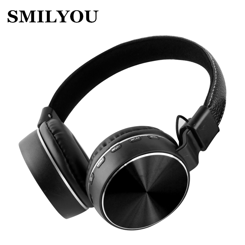smilyou v4.2 Wireless leather Headphones metal Bluetooth Headset Earphone Earbuds Earphones With Microphone  for PC Mobile phone magift bluetooth headphones wireless wired headset with microphone for sports mobile phone laptop free russia local delivery hot