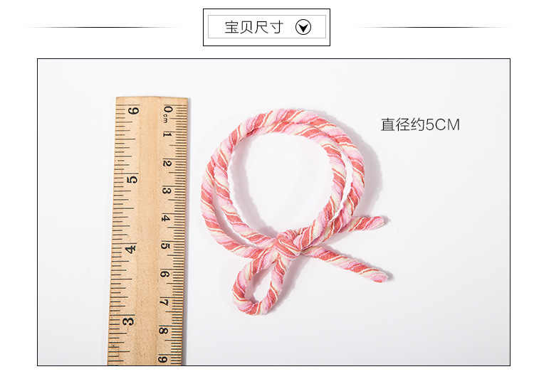 Three Color Spiral Elastic Hair Bands Ponytail Holders Green Purple Pink Holders Headwear Hair Accessories for Women