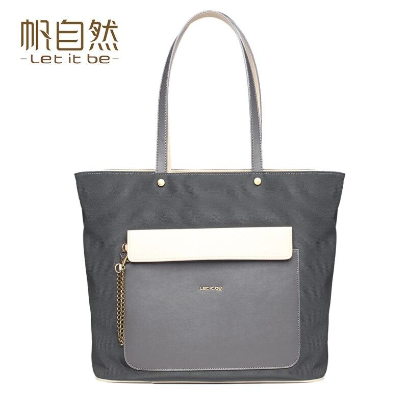 ФОТО Let it be nylon composite shoulder bags women bag oxford canvas tote bags handbags women famous brands vintage design bolsas