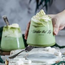 Glass Cup Creative Letter Milk Juice Water Mugs Healthy Drink Yogurt Mug Lovers Couple Crystal Cup Gifts Transparent Drinkware
