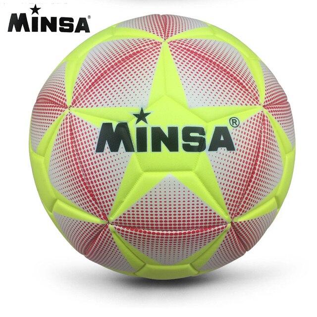 2019 MINSA alta calidad tamaño 5 PU balón de fútbol para pelota de entrenamiento