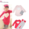 3pcs Baby Girls Kids vetement Long Sleeve Top + Pant + Hair Band Clothes Suits Outfits Sets 2Y - 7Y free shipping