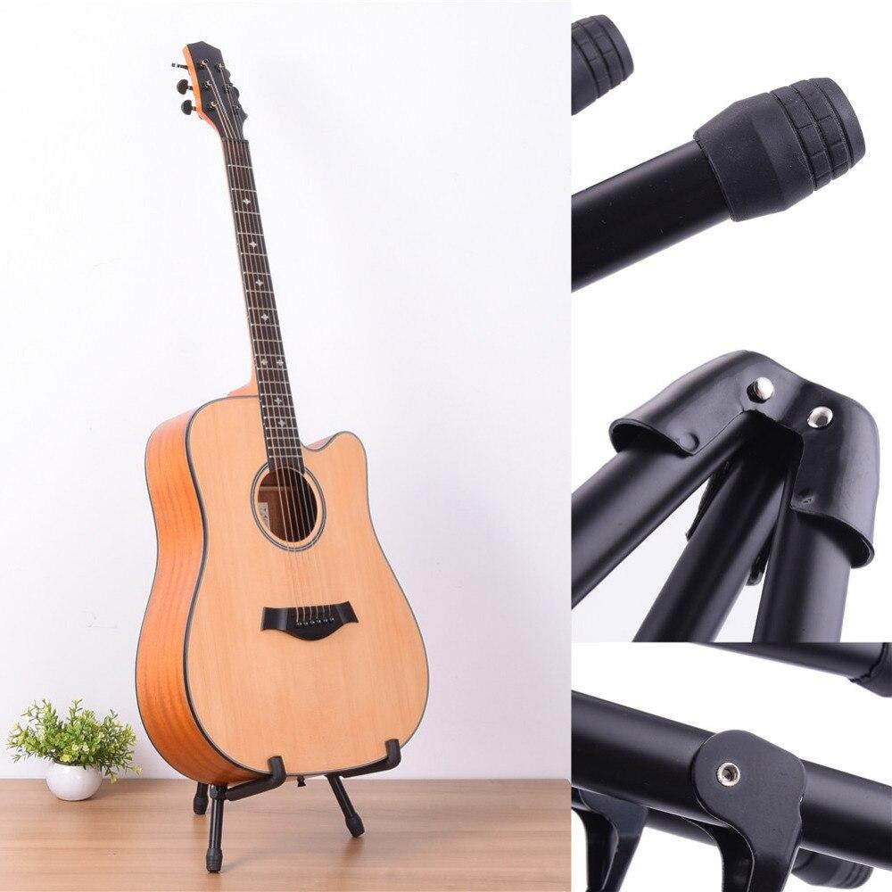 Adjustable Ukulele Stand Round Foot Guitar Frame Black Musical Instruments Part & Accessories Stand For Ukulele Guitar Bass ukulele for dummies