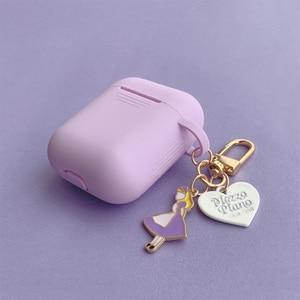 Image 2 - סופר חמוד בנות מפתח טבעת עבור אפל Airpods מקרה אלחוטי Bluetooth אוזניות מקרה סיליקון אוזניות מגן כיסוי אנטי אבוד
