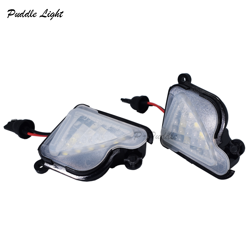 2x 6000K Bright White LED Under Side Mirror Puddle Lights Lamp No Error For Skoda Superb Octavia high power 2835 SMD
