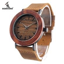 Luxury Brand BOBO BIRD Women Watches Ladies Genuine Leather Band Watch Wooden Wristwatches relogio feminino