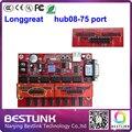 Longgreat controlador de led de alimentação cartão de placa de porta 2 pcs hub08-75 hub08 converter para um porta hub75 para rgb levou exibição módulo tela