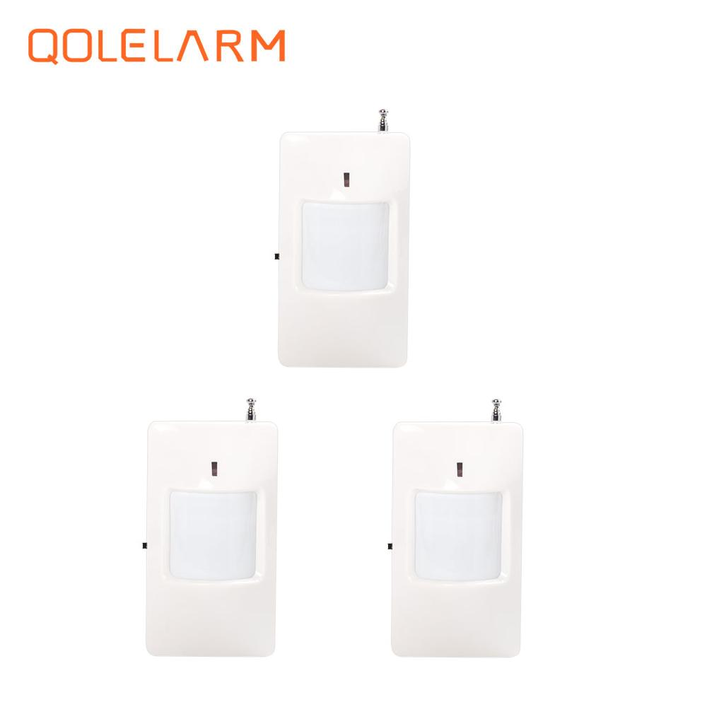 433 MHz Wireless Infrared detector PIR Motion Sensor for home security PSTN wi-fi gsm sms alarm system 433 mhz wireless camera security system mini ip camera wifi gsm alarm systems for home with door sensor infrared pir motion