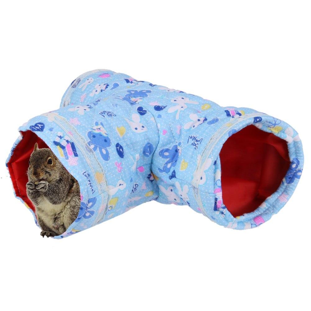 Kleine Pet Cartoon Crinkly Kitten Tunnel Speelgoed Hamster Speelgoed Buizen Kooi House Bed Nest Lente/herfst Weinig Kat Bed