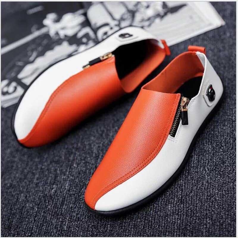 Hombres naranja blanco Los Casual Zapatos Herren H9 2018 De Marca Hombre Schuhe Moda Otoño Primavera Mocasines Vestir Negro UadwTq