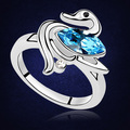Fashion Party Rings for Women 2017 Platinum Plated Cyrstals From Swarovski Swan Ring Exquisite Design Jewelry