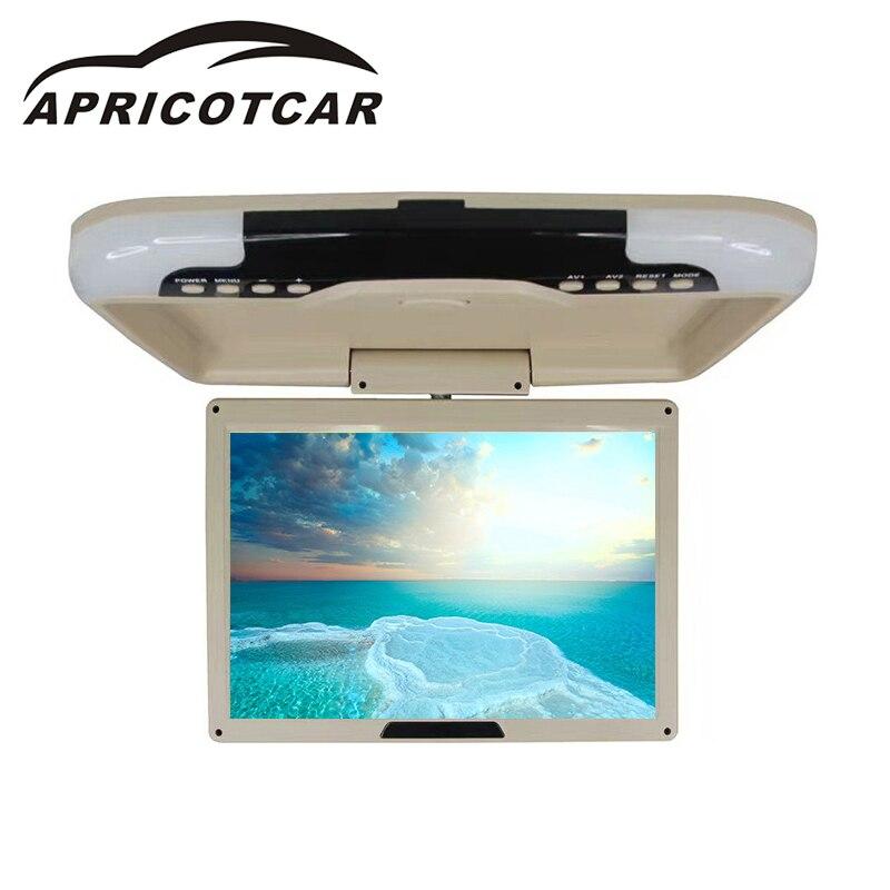 APRICOTCAR 12 дюймов 480*800 автомобильный флип крыша ЖК монитор потолочный верхний монитор HD ультра тонкий широкоэкрансветодио дный ный светодиодн