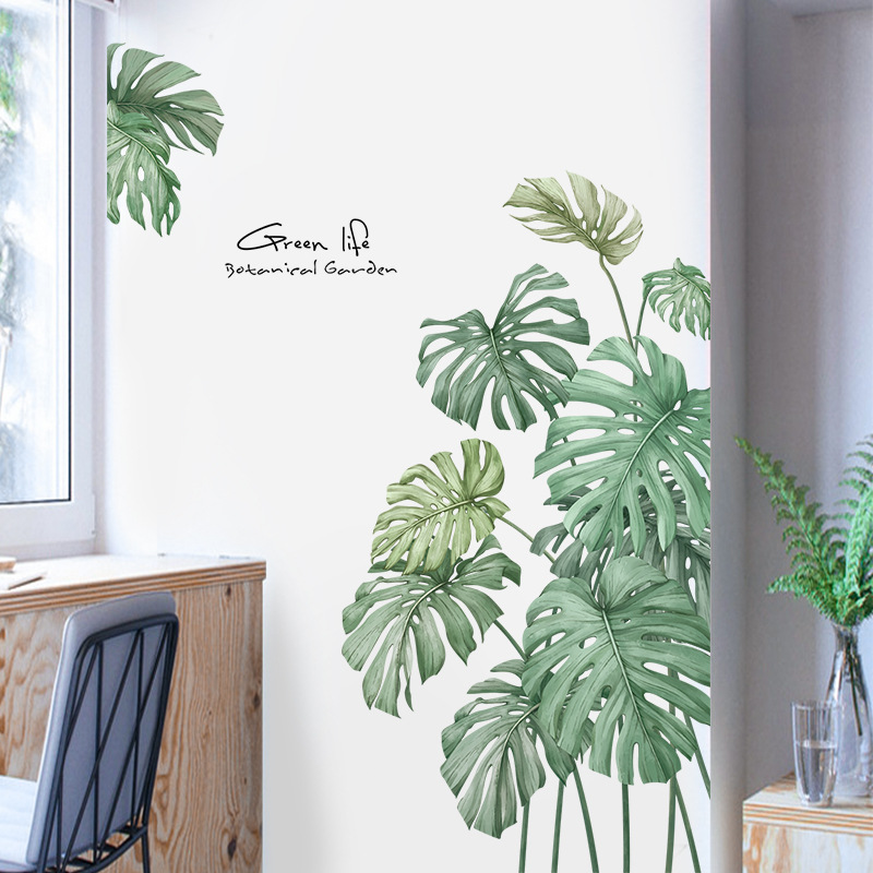 Us 757 50 Offgreen Life Nordic Style Turtle Leaf Plants Wall Sticker For Living Room Refrigerator Door Wall Decoration Bedroom Decor Wall Art In
