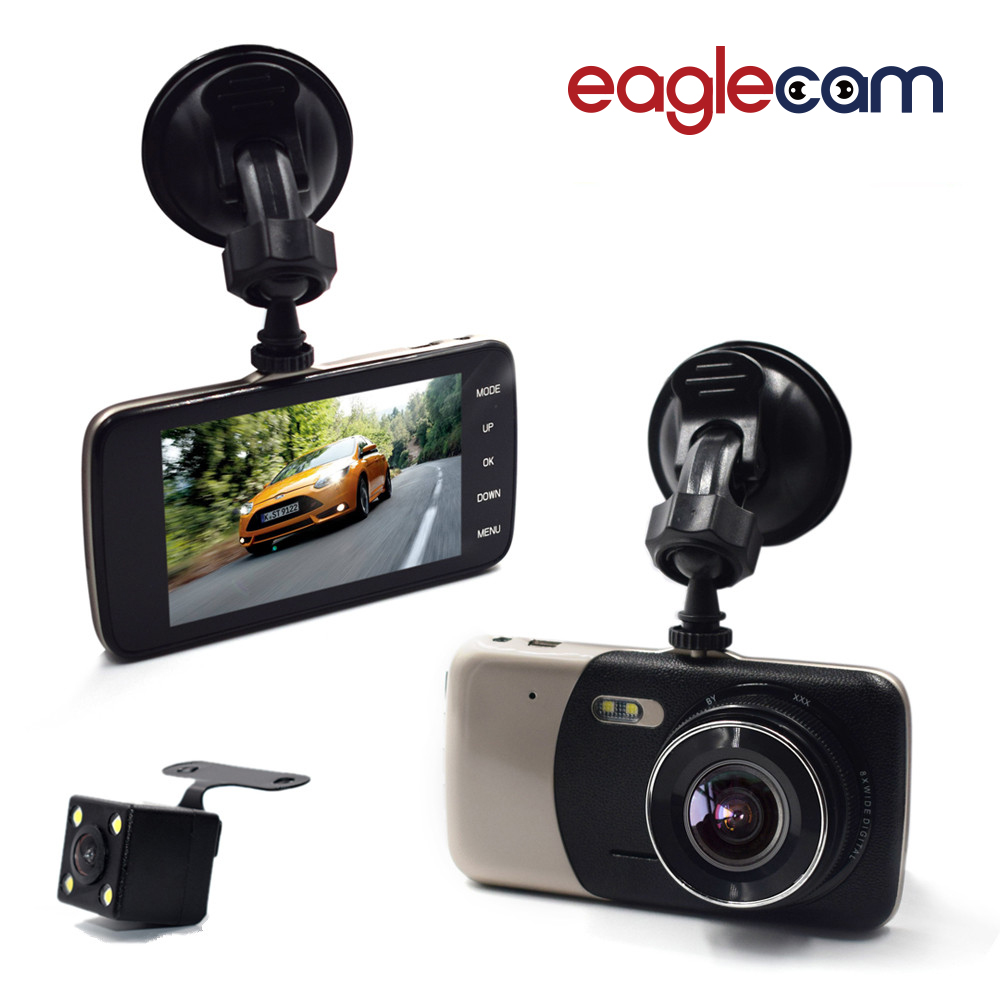 2017 Nova 4.0 Polegada IPS Tela Carro DVR Da Câmera Do Carro Novatek T810 Oncam Traço Camera Full HD 1080 P Vídeo 170 Graus Traço Cam