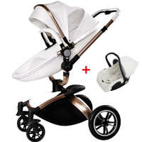 On Sale, High view, Best Quality, Leather, Baby Stroller Whole Set, Super Suspension, Two Directions, Folding, Sit & Lie Down.