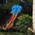 4 м 3D Летать Кайт Одной Линии Stunt Parafoil Синий Осьминог Кайт Аутдор Спорт Игрушки легко Летать Кайт Спорт парашют
