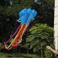 4 m Mosca 3D Parafoil Kite Sola Línea Del Truco Pulpo Azul Juguetes fácil de Volar Deporte Kite Kite Deporte Al Aire Libre paracaídas