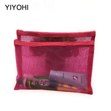 YIYOHI Travel Cosmetic Bag Women Fashion Black Mesh Zipper Makeup Case Animal Make Up Bags Organizer Storage Pouch Toiletry Bag цены онлайн