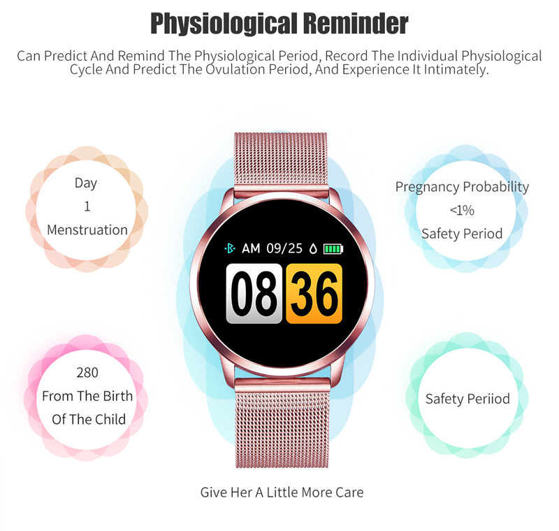MAFAM Q8 Smart Watch OLED Color Screen Smartwatch Men Women Fashion Fitness Tracker Heart Rate Monitor For IOS Android Watch (22)
