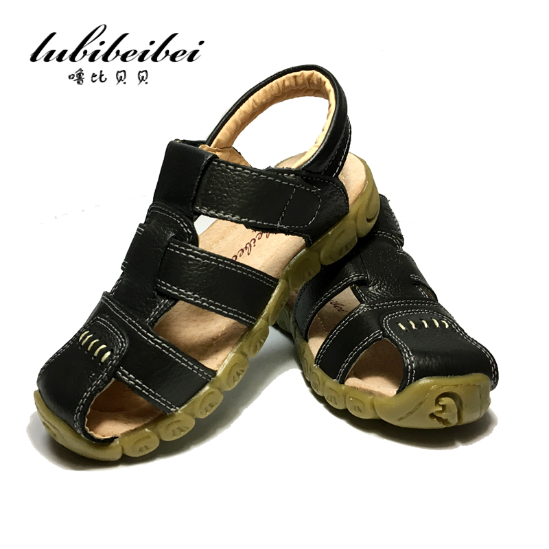 2017 summer beach kids shoes closed toe sandals for boys 3 Designs Soft Leather Sandals Soft