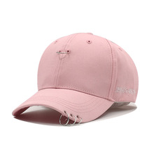Kioninai 2017 THE NEW Baseball Cap Women With 3 Rings SnapBack Caps Fashion Hip Hop Cap Sun Hat Korean Version Solid Color Bone