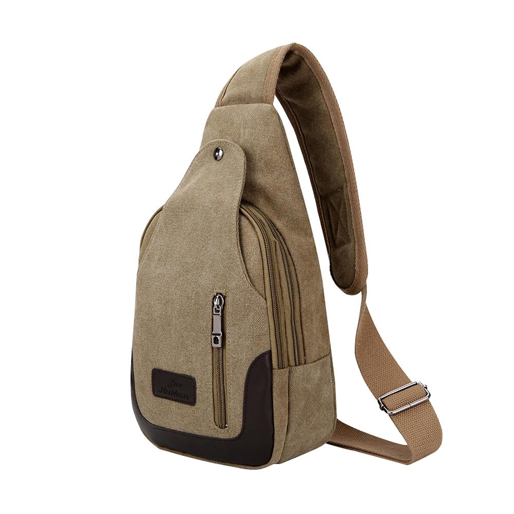Multifunction Patchwork Men's Chest Bag Zipper Design Crossbody Shoulder Bags For Men Single Wide Strap Cross Body Bag Male