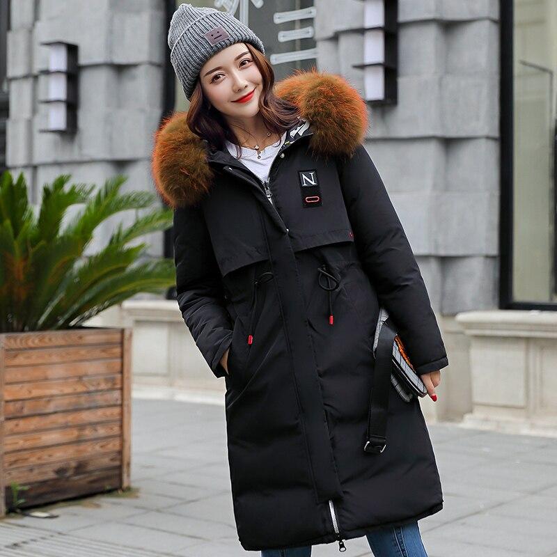 Parka Kuyomens Avec Et Noir Chaud Coton Mince Veste Parkas Femmes gris Épais Hiver Qualité camel Manteau rouge Capuche Mode Haute Vestes pxpwYg