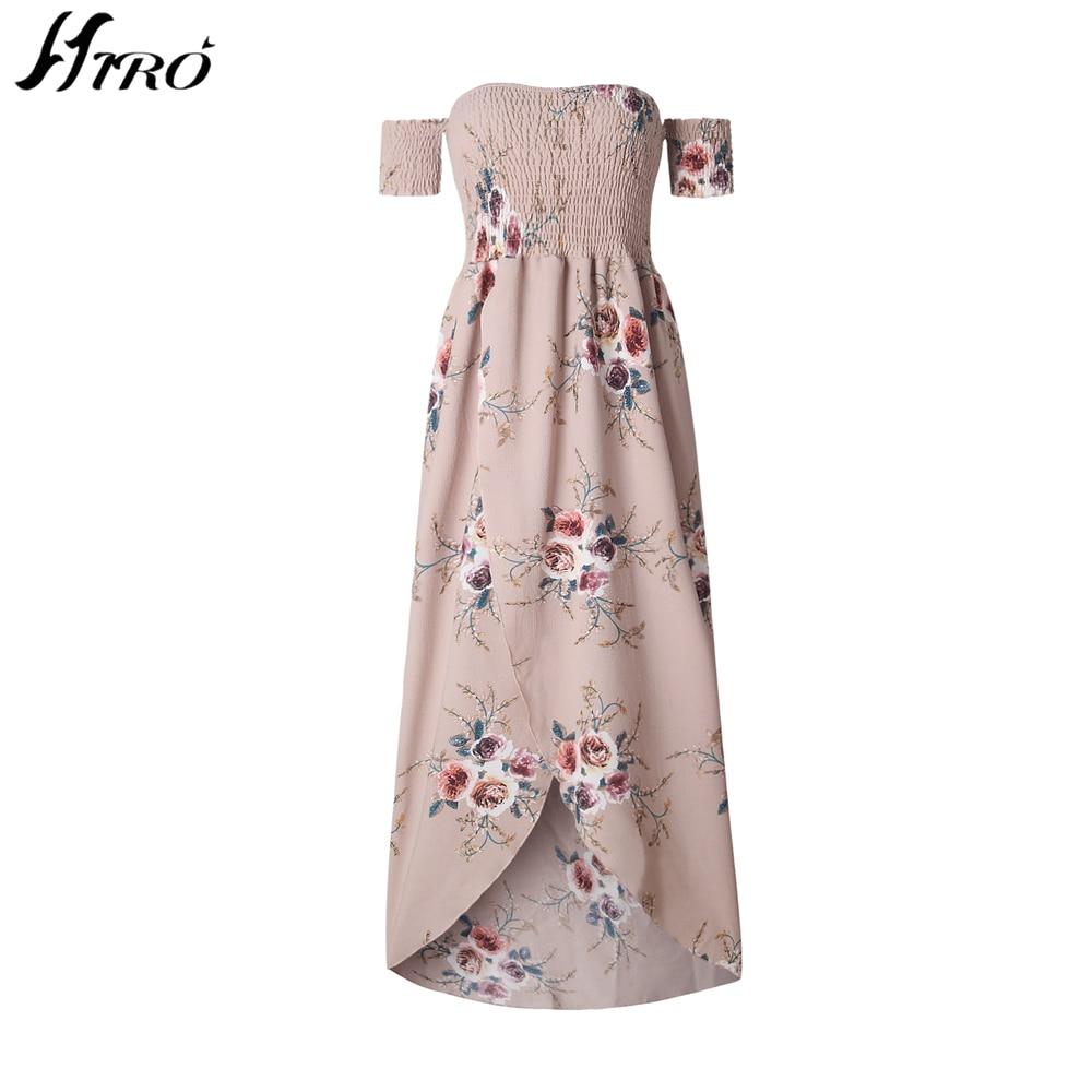 2017 Beach Summer Dresses Boho Style Long Dress Women Off Shoulder Floral  Print Vintage Chiffon Sex Max Dress Vestidos De Fiesta-in Dresses from  Women s ... 303bdc0d9f75