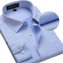 Twill социальный вечернее чистый бизнес рубашка рубашки моды длинным дизайн большой