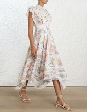 Prairie Chic Floral print Women Dresses Summer 2019 holiday butterfly sleeve long dress vintage lace ruffles dresses