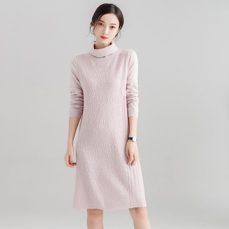 0d1df3ad98a3 Detail Feedback Questions about 2019 New Autumn Women s Long Turtleneck Sweater  Dress Casual Full Sleeves Female Loose Pullovers Fashion Elegant Women s ...