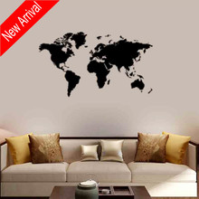 Plane Wall Stickers Of The World Map Decals Living Room Mural Fashion Bedroom Decor Wallpaper