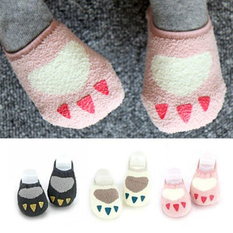 Toddler Baby Kids Girls Cute Non Slip Slipper Socks Soft