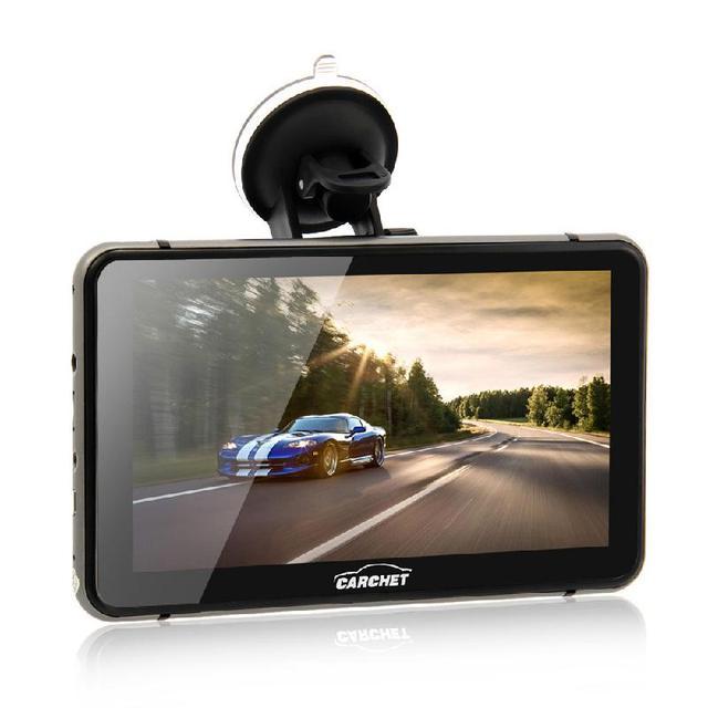 CARCHET 7 Polegada Veículo Navegação GPS 512 MB RAM 8 GB GPS Android 1080 P HD DVR com Cam Traço Touchscreen FM 800*480 Mapa Da América