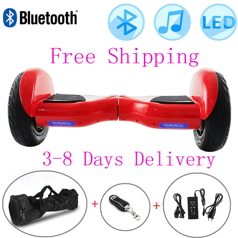 Hoverboard 10 Inch Red Self-Balancing Scooter Gallop Electric Scooters 2 Wheels Balance Board Outdoor Skateboard Bluetooth+Bag