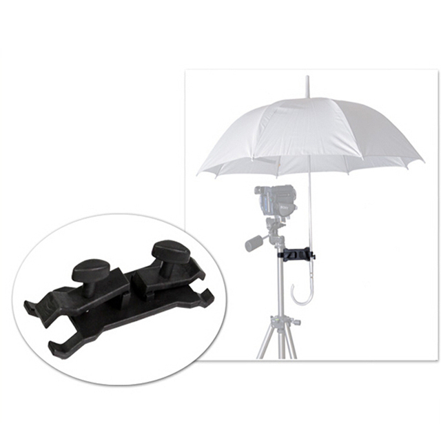 Outdoor Umbrella Holder Clip Clamp Bracket Support For Camera Tripod
