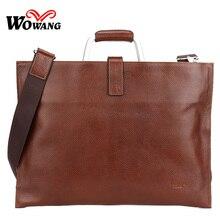 2016 Men's Briefcase 100% Genuine Leather Business Handbag Brand Laptop bag Men Messenger Bag Men Travel Shoulder Crossbody bags